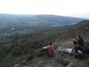 BBQ, beers and a sun set on Curbar Edge